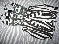 NEW Baby Girls Black white Nightmare B4 Xmas Short Bloomers Romper set Gift Goth