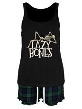 Lazy Bones Women's Black Pyjama Set