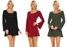 Regular Size Bulk Lot Wholesale Resale Womens Long Sleeve Tunic Shirt Mini Dress