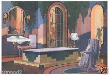 Art Deco Poster/Bathroom Poster/Posh and Decorative Bathroom Furnishings
