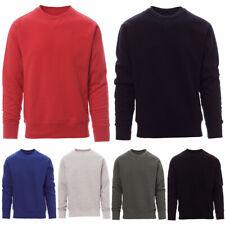 Herren Sweatshirt Pullover Basic Pulli Rundhals Langarmshirt Unifarben Sweater