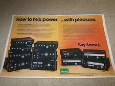 Sansui 2 pg Ad, 1976, AU-20000,11000,9900,4900,Tuners