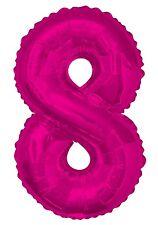 rosa número 8 8 fiesta cumpleaños gigante con Forma Globo Helio Metalizado