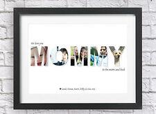 Personalizado a Medida Mami Collage imprimir fotos día de las Madres Mamá Navidad Palabra Arte