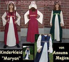 KINDER MITTELALTERKLEID Mädchen Mittelalter Kleid Kinderkleid BAUMWOLLE 3 Größen