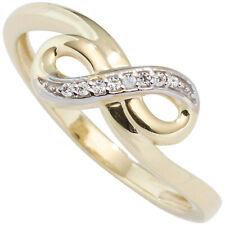 Damen Ring Unendlichkeit 333 Gold Gelbgold bicolor mit Zirkonia Goldring
