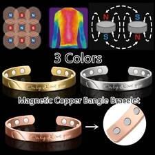 Damen Herren Magnetarmband Kupfer Armreif Armbänder 6Magnetisch Heilend therapie