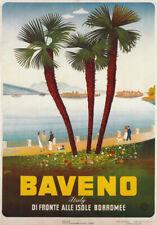 TV46 Vintage A4 1940's Baveno Italy Italian Travel Tourism Poster Re-Print