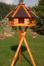 klein - XXL Vogelhaus Futterhaus Futterhäuschen Vogelvilla aus Holz mit Silo V18