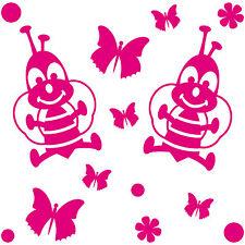 Set Aufkleber Deko Folien Schmetterlinge Bienen Blumen Auto Möbel Schrank Tür