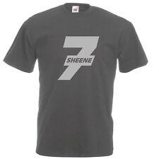 Barry SHEENE 7 Moto GP Grand Prix BSB Motorrad Silber Logo dunkelgrau T-Shirt