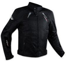 Giacca Cordura Tessuto Sportiva Traspirante Moto Termico Protezioni CE Nero