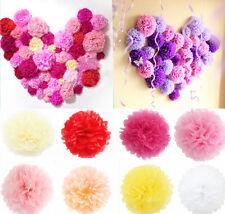 10pcs Wedding Party Baby Shower Outdoor Decor Tissue Paper Pom Poms Flower Ball