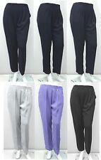 Femmes neuf Noir Gris Lilas Marine crêpe poche pantalon grande taille 44 pour 28