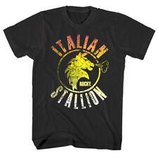Rocky Balboa Italian Stallion Fire Men's T Shirt Vintage Horse Head Boxing Champ