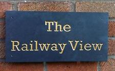 engraved v carved natural slate house sign name number plaque