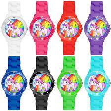 Bunte Kinder Armbanduhr Silikon Einhorn Uhr Lernuhr Mädchen Jungen Quarz Watch
