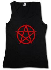 RED PENTAGRAM SIGN TANK TOP VEST GYM Satan Crowley Pentagramm Satanic Circle 666