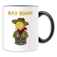 Personalised Gift Cowboy Mug Money Box Cup Fairy Tale Hat Name Coffee Straw Tea