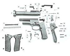 Ricambi in kit per pistola a salve 92 Bruni calibro 8 mm