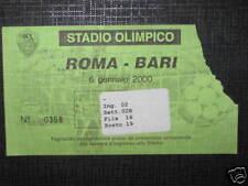 ROMA - BARI TICKET BIGLIETTO 1999/00 SERIE A