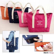 Extra Large Canvas Shoulder Bag Tote Handbag Satchel Travel Beach Gym Shopper