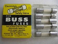 "5X BUSSMANN FUSE C 1/4 3/8  1  1-1/2 1-3/4 4 5 6 or 7 Amp 332 ""NOS"""