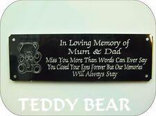 Personalizzata Memorial Bench targa segno TEDDYBEAR Design qualsiasi parola U Wish 160X55