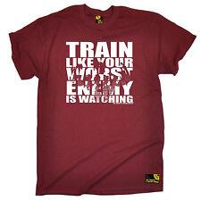 Allenati come il tuo peggior nemico sta osservando T-shirt allenamento muscolare Regalo di Natale