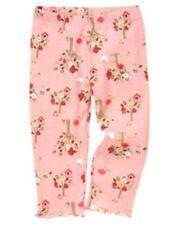 GYMBOREE UNICORN GARDEN PINK w/ FLOWERS N ANIMALS LEGGINGS 3 6 12 18 24 2 3 4 5T