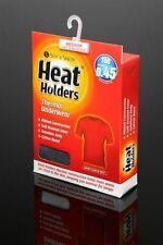 Heat Holders Mens Thermal Underwear Short Sleeve Vest Charcoal Grey White