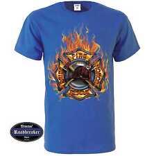 Camiseta azul real con un Bomberos/Rescue Motivo M-XXL Modelo Firefighter Res