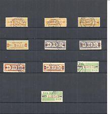 DDR 1958/59, Michenrn. Dienstmarken B aus 16 - 31 o, Einzelmarken o,gestempelt o