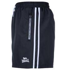 Mens Lonsdale 2 stripe Navy & White Woven Gym Training Shorts M,L,XL,XXL