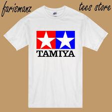 New TAMIYA Logo Racing Car Toys 80s 90s Men's White T-Shirt Size S to 3XL