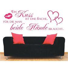 Wandtattoo Spruch  Ein Kuss ist beide Hände Wandsticker Wandaufkleber Sticker 2