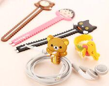 2 x Cute bear Cat Giraffe Kitten cable wire earphone cord organizer Kawaii