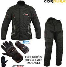 Noir Vitesse Max Ce Protection Moto / Veste Moto Textile Pantalons Costume