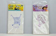 Spongebob Squarepants Dora The Explorer Lunchbags 20 Pack White Paper Sealed
