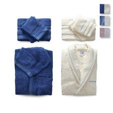 Bagno: Accessori E Tessuti Set Asciugamani Spugna 3+3 Viso E Ospite Sommaruga Foglie Vari Colori