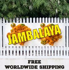 Banner Vinyl JAMBALAYA Advertising Flag Sign Homemade Restaurant Cafe Food