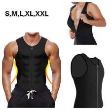 Men Neoprene Body Shaper Sauna Slimming Waist Slim Belt Sports Vest Zip Corset