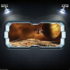 Navette spatiale fenêtre alien planet full colour wall art autocollant décalque transfert