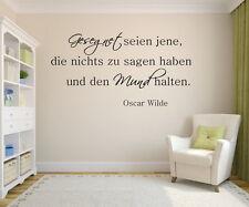 Wandtattoo,Wallsticker Zitat Oscar Wilde Gesegnet...Wohnzimmer Wallart Spruch
