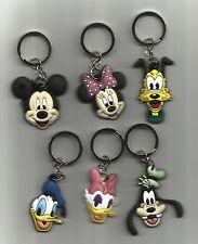 Key Chain-Mickey, Minie, Donald, Daisy, Pluto or Goofy(Choice) (PVC)