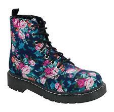 T.U.K Anarchic T2204 T.U.K.7 Buchi Lacci da scarpe blu marino floreale