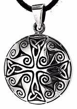 Celtic Pendant 925 Silver Band Triskelen Triskele cross Celtic Knots No 25