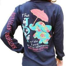 Southern Attitude Long Sleeve T-Shirt: Joy of the Lord | Elephant & Umbrella
