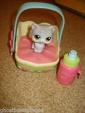 HASBRO PLAYSKOOL LITTLEST PET SHOP FEED ME BOTTLE CAT KITTY BED