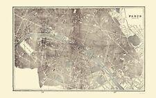 Old France Map - Paris - Rathbun 1893 - 23 x 36.34